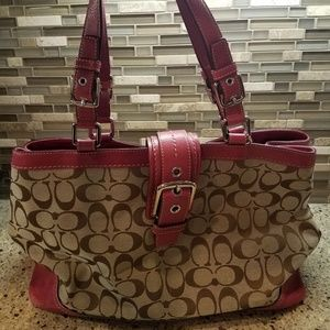 Coach Bags - Coach Hampton Signature Large Carryall F12643